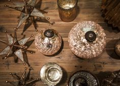 Rose gold ornaments are a perfect example of the Christmas Shine Trend...