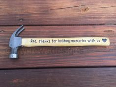 Father's Day Gifts, Father's Day Hammer, Father's Day, Dad, Dad quotes, Gifts for Dads by MyCrewsDesigns on Etsy