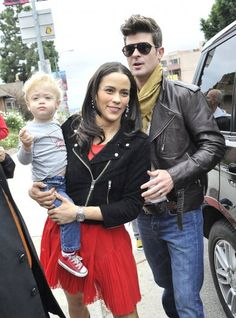 Great couple, adorable baby ..........Robin Thicke = Beautiful music....Paula is his inspiration....High school sweethearts...