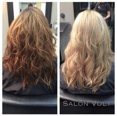 Brunette to Blonde, Before and After, Platinum blonde, Light Blonde, Heavy Highlighting