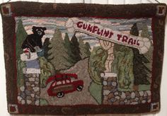 Gunflint Trail Hooked and designed by Carol Dunn Primitives by Carol Rae