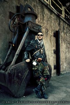 Menerik <3 - #wasteland #wastelander #Post #Apocalypse #Apocalyptic #Mad #max #Road #Warrior #gear #goggle #spikes #urbex #army picture by Anja Elzinga #livingdreaddoll http://www.facebook.com/livingdreadd0ll  -- http://livingdreaddoll.tumblr.com/