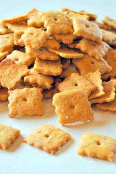 Homemade Cheez Its recipe to try (vegan but mebbe un-veganized would work same)