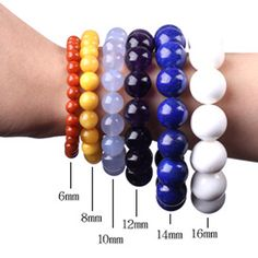 Cheap Beads, Buy Quality Jewelry & Accessories Directly from China Smooth Round Beads Ball Light Pink Jades Stone Beads For DIY Necklace Bracelets Jewelry Making 15 Diy Necklace Bracelet, Bracelet Crafts, Jewelry Crafts, Jewelry Findings, Beaded Jewelry, Beaded Bracelets, Jewellery, Bead Size Chart, Bracelet Size Chart