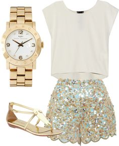 """Glittery"" by preppermint on Polyvore"
