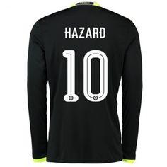 Chelsea 16-17 Eden #Hazard 10 Udebanesæt Lange ærmer,245,14KR,shirtshopservice@gmail.com