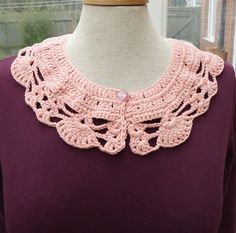 Crochet Collar Peter Pan Style crochet Collar Peach by evefashion, £12.00