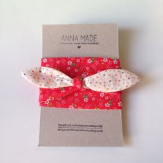 pretty floral reversible headband / headtie  by annamadegoods