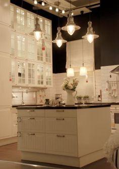 Vintage chic: white pitcher IKEA   Lights