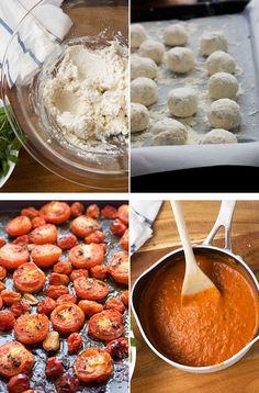 making ricotta gnudi