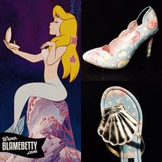 So flipping cute. Flip flops or pumps! #blamebetty #mermaid #ironfist