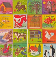 Vintage 1970s Children's/Craft French Domino Logis by Pommedejour, $18.99