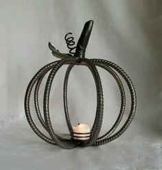 Small Rebar Pumpkin For Sale @ Southpaw Metal Art Studio
