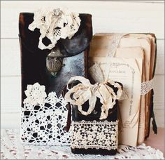 Embellished camera bags (from Katie's Rose Cottage)