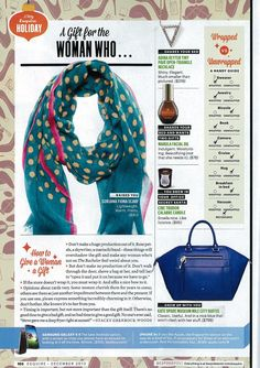 Esquire - December 2013 -  Gorjana scarf featured in the Holiday Gift Guide