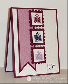 {Supplies Used} Stamps: Sentiment (Flourishes), Jolly Bingo Bits (SU! Holiday Cards, Christmas Cards, Christmas Wishes, Natal Diy, Karten Diy, Embossed Cards, Winter Cards, Creative Cards, Greeting Cards Handmade