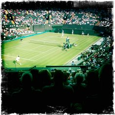 Exciting match between British player James Ward & US Mardy Fish. #wimbledon