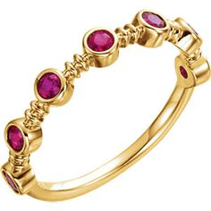 14kt Yellow  Ruby Ring