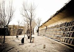 The EMBT is a cemetery sketched/designed by Enric Miralles and Carme Pinos in order to replace the old one