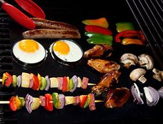 Tidy Grill BBQ Grill Mat - SET OF 2 - PREMIUM QUALITY, Versatile, Portable, Reusable, Durable, Easy Clean, PFOA-Free Non-Stick, suitable for outdoor Gas & Charcoal grills as well as indoors for use in the oven - Grilling is Fun & Mess Free - Best Father's Day, Birthday or Christmas Gift! BONUS Summer Party Recipes E-Book - No Risk Money-Back Guarantee! Jokoha http://www.amazon.com/dp/B00L5DZ2OA/ref=cm_sw_r_pi_dp_XhrBub1ZC3CHG