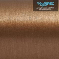 Avery Dennison Brushed Bronze SW900-933-X Vinyl Spec- Distributor of Vinyl Car Wrap Film, tools, and aftercare products