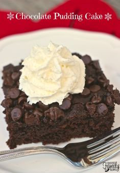 Only 4 ingredients to make this moist and delicious chocolate pudding cake! It is also one of the best tasting chocolate cakes I have ever had. The amount of pudding used in the recipe makes the cake so moist and delicious. What I love most about this cake is that you don't need to frost it.  Find all our yummy pins at https://www.pinterest.com/favfamilyrecipz/