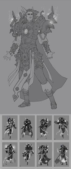 Kalecgos Linework and thumbs by Zephyri.deviantart.com on @DeviantArt