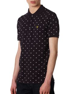 Lyle and Scott Cross Print Polo Shirt