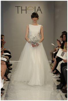 Theia White Collection Fall 2015. #wedding #bride #bridal #runway