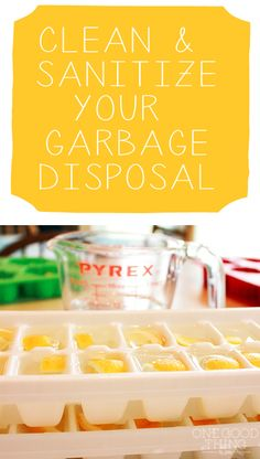 Clean Your Garbage Disposal With Lemon and Vinegar Ice Cubes. Keeps your garbage disposal smelling good.