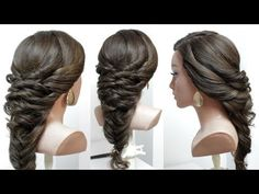 Easy & Beautiful Hairstyles for Wedding. Bridal Hair Style Tutorial - YouTube