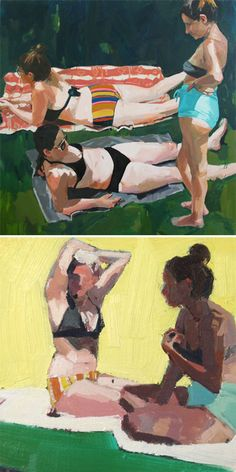 new work by samantha french <3 Reminds me of sunny days in central park- love that these girls look like real pp and not models.