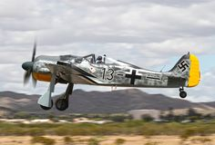 Klaus Plasa airborne for the first time in Dan Kirkland's FW-190A8/N following its construction at GossHawk Unlimited in Casa Grande, Arizona. (photo via GossHawk Unlimited)