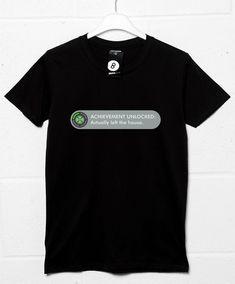 Achievement - Actually Left The House T Shirt - Black / 2XL