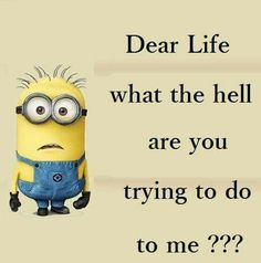 Dear Life ~ what the hell are you trying to do to me??? - minion
