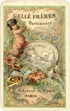 Romantic Paris Perfume Label - Gorgeous! - The Graphics Fairy