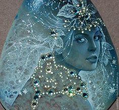 Queen of Winter. Miniature painting artist Svetlana Belovodova