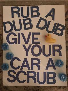 Printable Car Wash Sign Congress Youth Project Car Wash Sign