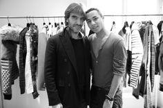 Olivier Lalanne, rédacteur en chef de Vogue Hommes International et rédacteur en chef adjoint de Vogue Paris et Olivier Rousteing à la prése... http://www.vogue.fr/mode/inspirations/diaporama/les-coulisses-de-la-fashion-week-homme-automne-hiver-2014-2015-a-paris-jour-2/17156/image/915196#!olivier-lalanne-redacteur-en-chef-de-vogue-hommes-international-et-redacteur-en-chef-adjoint-de-vogue-paris-et-olivier-rousteing-a-la-presentation-balmain-homme-automne-hiver-2014-2015