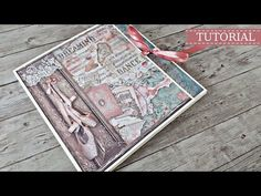 "Stamperia folio άλμπουμ ""Πάθος""   Tutorial   Μαρίνα Μανιώτη - YouTube Mini Album Tutorial, Passion Project, Graphic 45, Mini Books, Hello Everyone, Scrapbooks, Youtube, Albums, Projects"