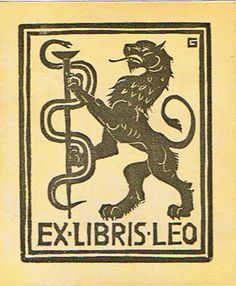"Ex-libris; Lot with 15 bookplates in different techniques with theme ""The Lion"" - 1940/1980 - Catawiki"