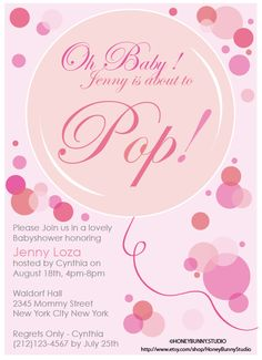 Ready to Pop  Baby Shower Invitation  FlatCard by HoneyBunnyStudio, $15.00
