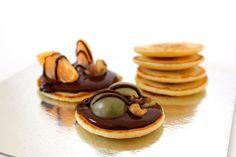 Mini Pancake de chocolate y frutas
