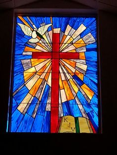 New stained glass window at my church Stained Glass Church, Stained Glass Quilt, Faux Stained Glass, Stained Glass Designs, Stained Glass Projects, Stained Glass Patterns, Stained Glass Windows, Mosaic Designs, Quilt Square Patterns