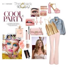 """""""90s party"""" by chechylmiliani on Polyvore featuring Miu Miu, Gap, Adolfo Courrier, Oscar de la Renta, Valentino, Tom Ford, TIBI, Too Faced Cosmetics, Birchrose + Co. and Chanel"""