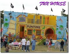 fun house with rotating tunnel Carnival Photography, Fair Rides, Fun House, Carousels, Carnivals, Memories, Image, Google, Carnavals