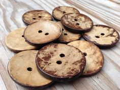 Large coconut shell buttons SALE 38mm natural by kandcsupplies, $3.25