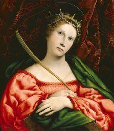 Santa Caterina d'Alessandria.  1522. Olio su tavola. Washington, NGA