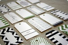 101 (or more) tag templates including these adorable chevron and striped ones :)