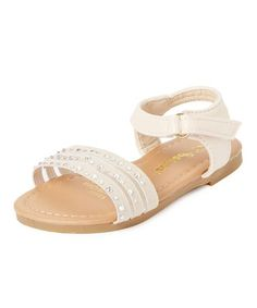 Beige Embellished Sandal #zulily #zulilyfinds